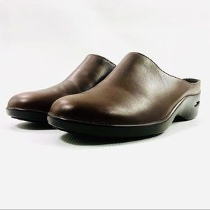 Cole Haan Air Brown Leather Mules Clogs Shoes Sz 7